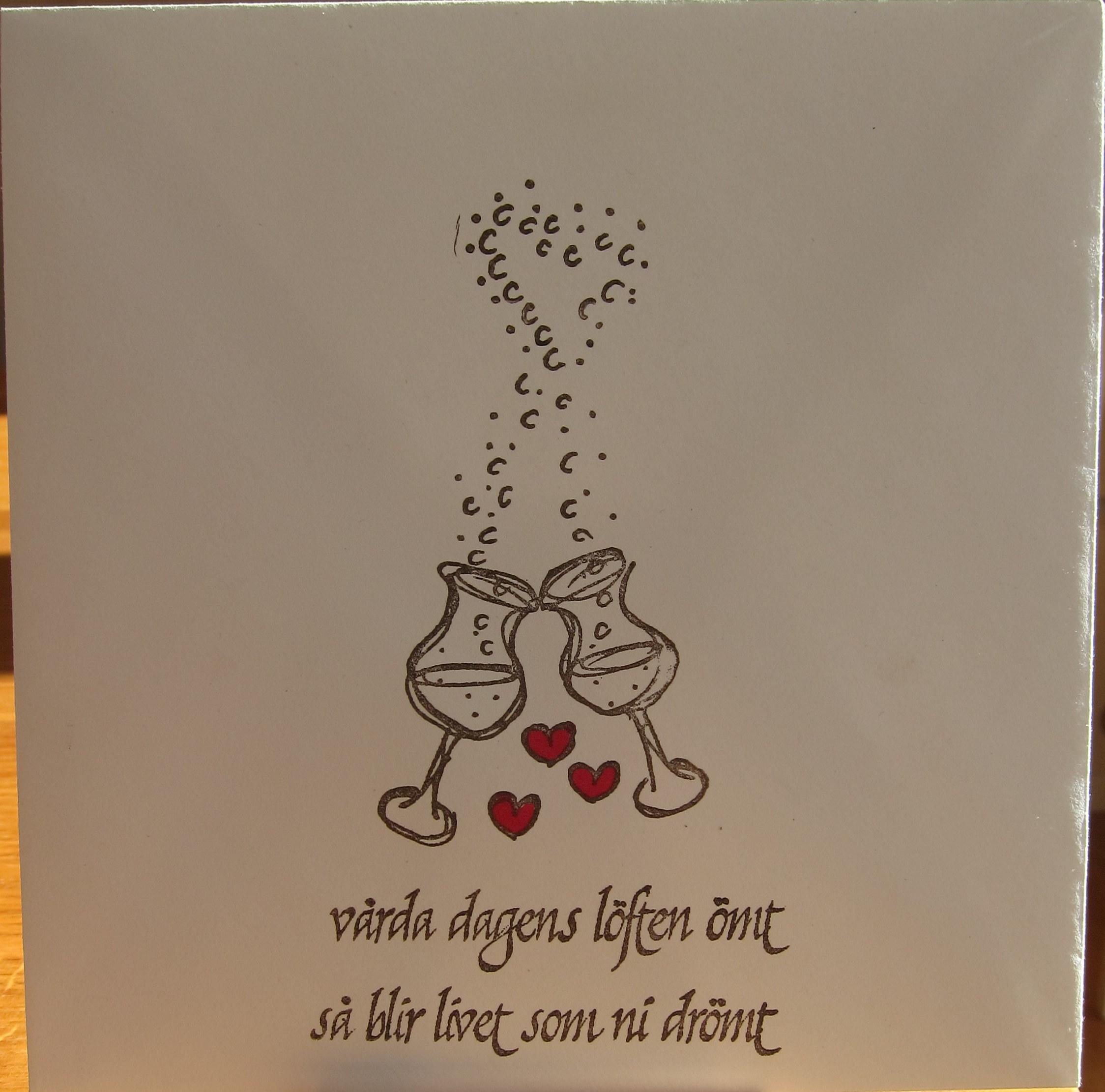 grattis till brudparet kort Kort till ett Brudpar | Pyssel Karin grattis till brudparet kort